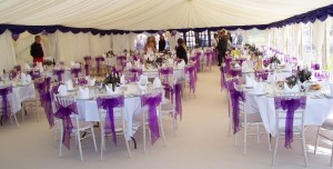 wedding reception in the marquee